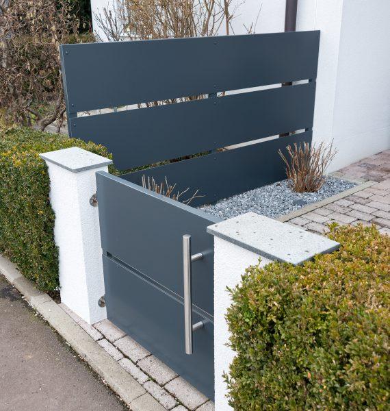 m lltonnenverkleidung zaun gartent re haid concenta austria gmbh. Black Bedroom Furniture Sets. Home Design Ideas